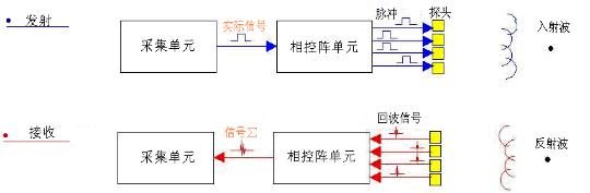每个晶片都有各自的接头,延时电路和a/d转换器且晶片之间彼此声绝缘.